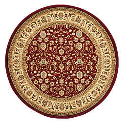 Safavieh Lyndhurst Red and Ivory Scrolling Pattern 8-Foot Round Rug