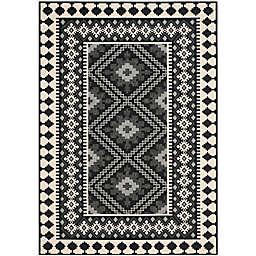 Safavieh Veranda Ronin 6'7 x 9'6 Indoor/Outdoor Area Rug in Black