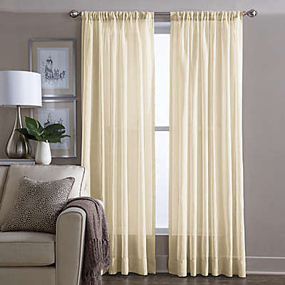 Yellow Sheer Curtains Bed Bath Beyond