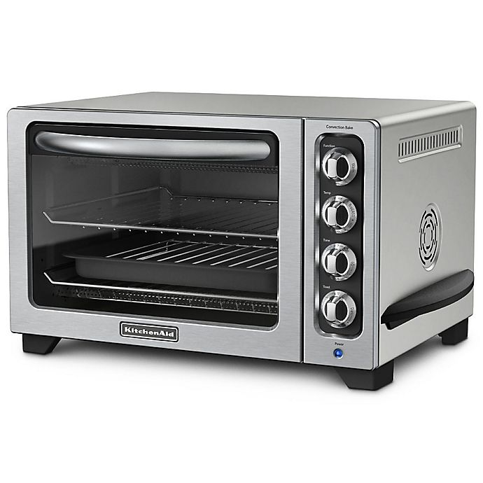 Alternate image 1 for KitchenAid® 12-Inch Convection Bake Countertop Oven in Countour Silver