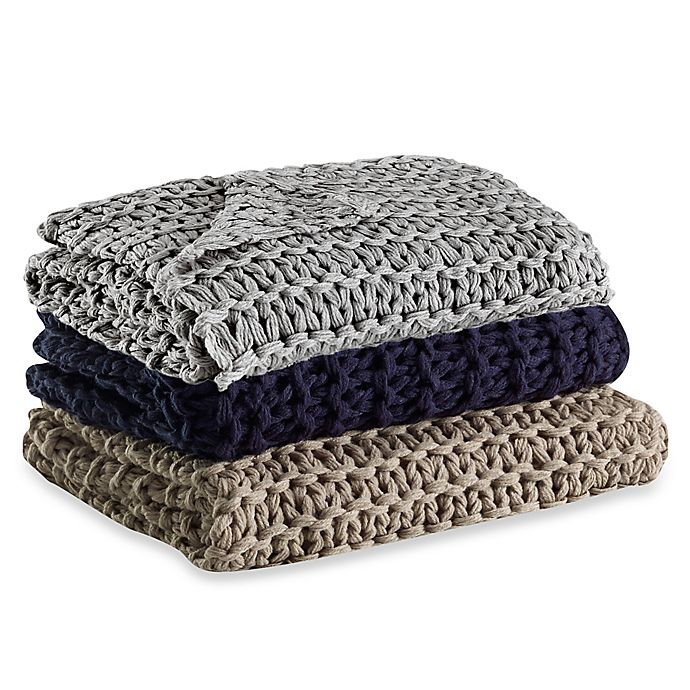Alternate image 1 for Kenneth Cole Reaction Home Chunky Knit Throw