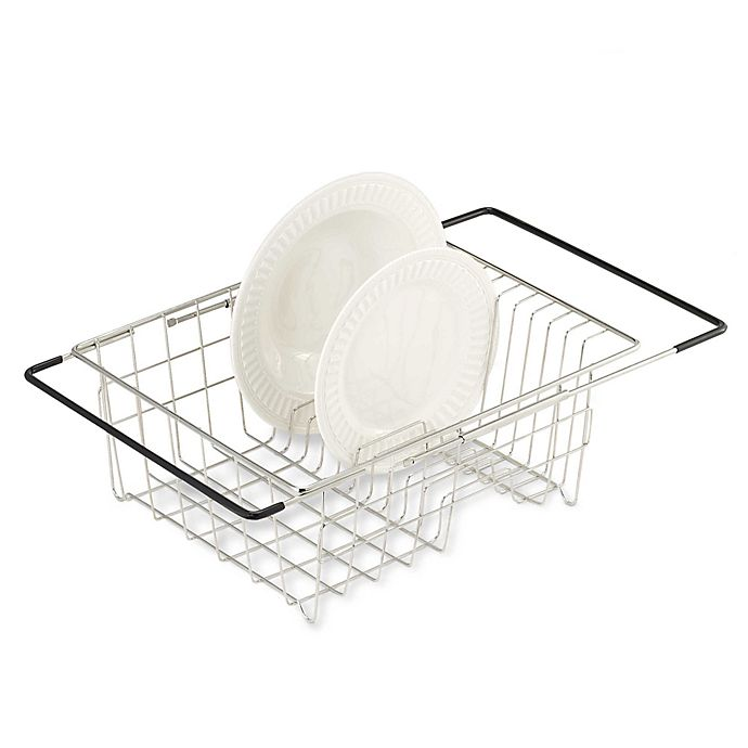 Polder Expandable Over The Sink Stainless Steel Dish Drainer Bed