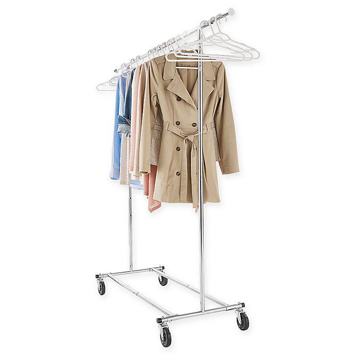 Alternate image 1 for Commercial Grade Portable & Folding Adjustable Garment Rack