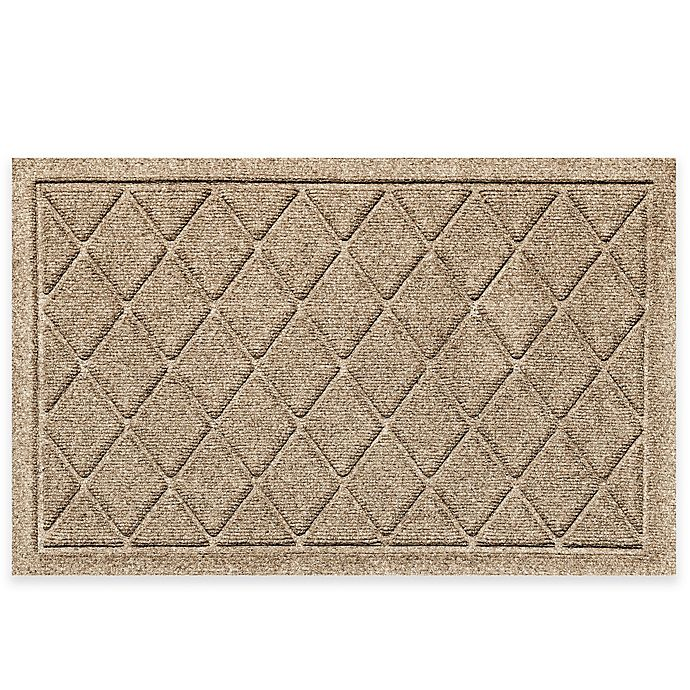 Alternate image 1 for Weather Guard™ 20-Inch X 30-Inch Argyle Door Mat in Camel