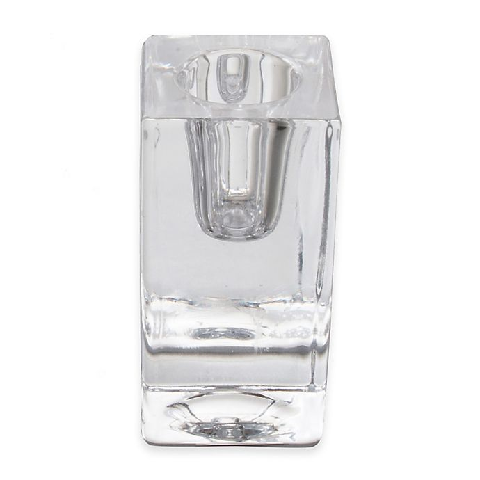 Alternate image 1 for TAG® Chunky Glass Taper Candle Holder