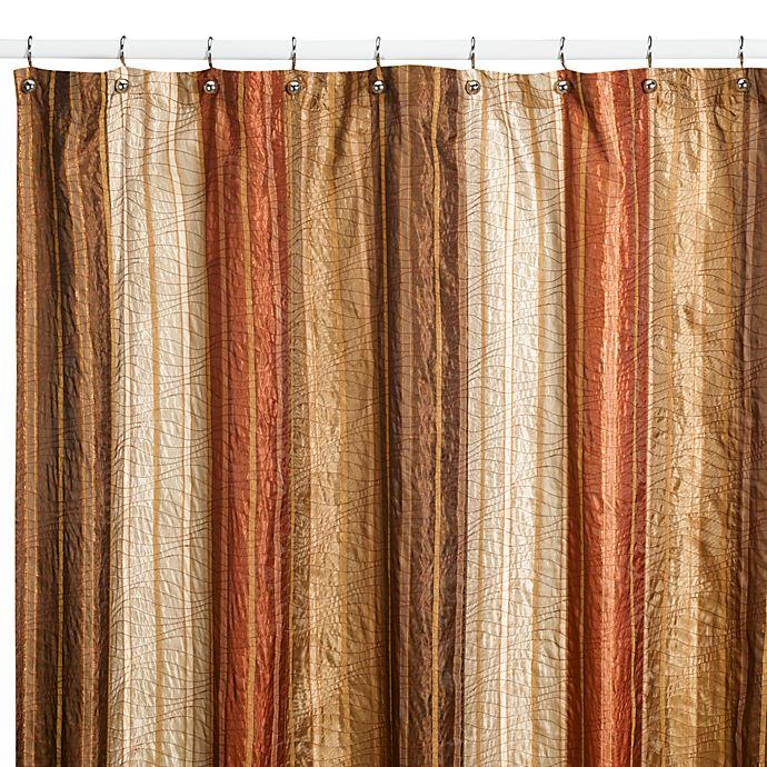 Manor HillR Sierra Copper 72 Inch X 96 Fabric Shower Curtain