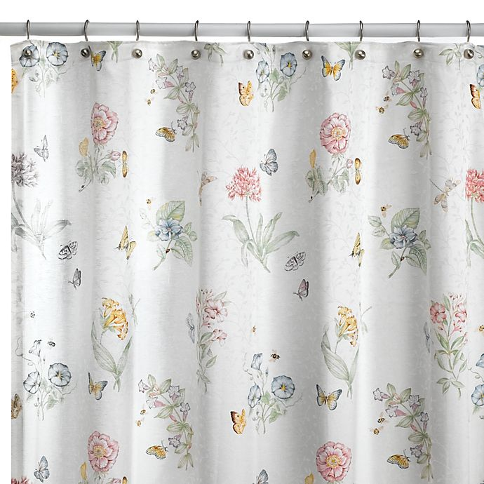 Alternate image 1 for Lenox® Butterfly Meadow® 72-Inch x 72-Inch Fabric Shower Curtain
