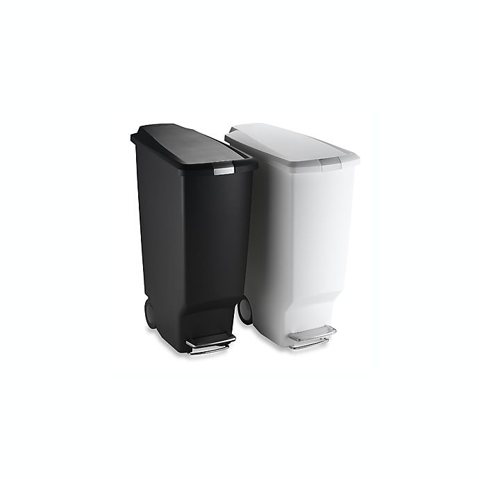 Alternate image 1 for simplehuman® Slim Plastic 40-Liter Step-On Trash Can
