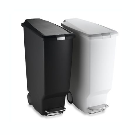 . simplehuman  Slim Plastic 40 Liter Step On Trash Can