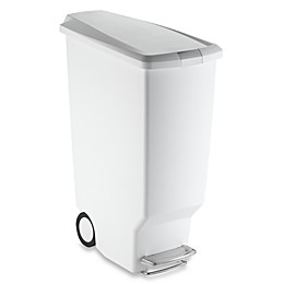 simplehuman® Slim Plastic 40-Liter Step-On Trash Can