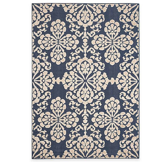 Alternate image 1 for Safavieh Cottage Floral Damask Indoor/Outdoor Rug
