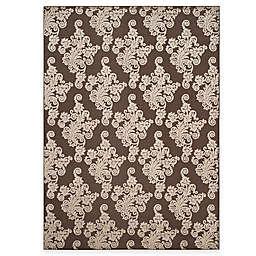 Safavieh Cottage Damask 8-Foot x 11-Foot 2-Inch Indoor/Outdoor Rug in Brown