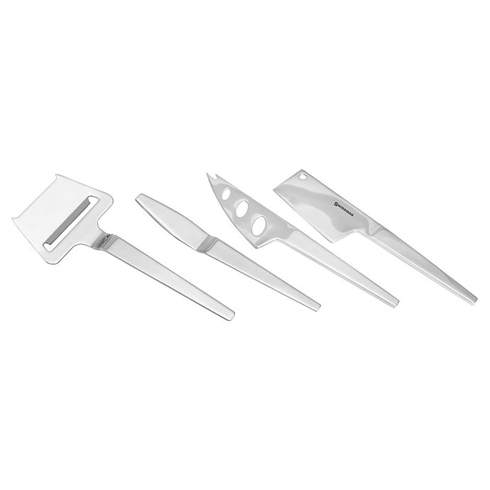 Alternate image 1 for Swissmar SlimLine 4-Piece Cheese Knife Set