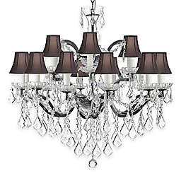 Gallery 19th Century Baroque 18-Light Wrought Iron and Crystal Chandelier