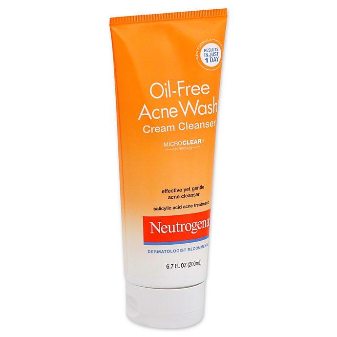Neutrogena 6 7 Oz Oil Free Acne Wash Cream Cleanser Bed Bath