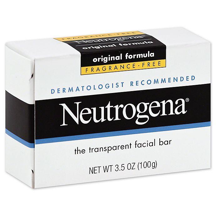 Alternate image 1 for Neutrogena® 3.5 oz. Fragrance Free Transparent Facial Bar Soap