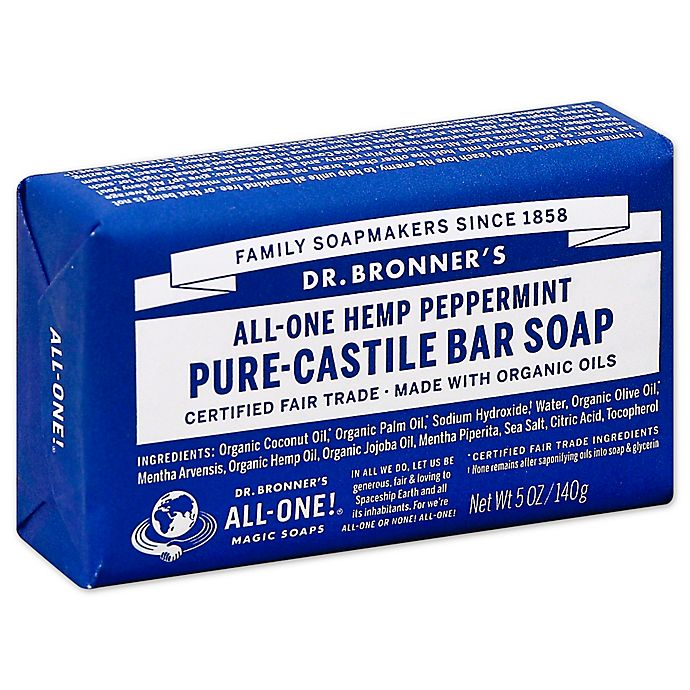 Alternate image 1 for Dr. Bronner's 5 oz. Pure-Castile Bar Soap in Peppermint