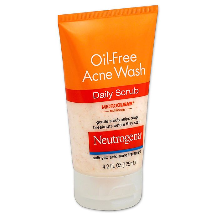 Neutrogena 4 2 Oz Oil Free Acne Wash Daily Scrub Bed Bath Beyond