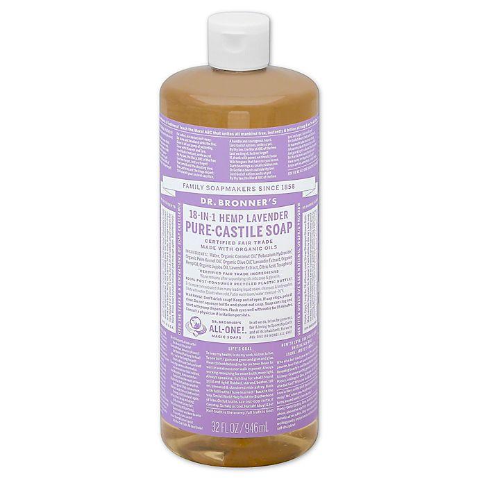 Alternate image 1 for Dr Bronner's 32 oz. 18-in-1 Pure-Castile Liquid Soap in Lavender