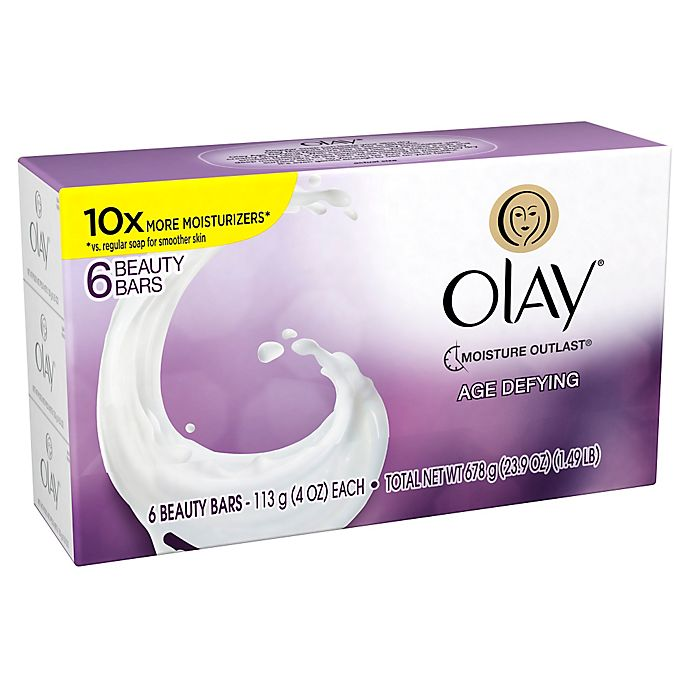 Alternate image 1 for Olay® 6-Count 4 oz. Age Defying with Vitamin E Beauty Bar Soap