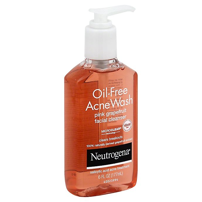 Neutrogena 6 Oz Oil Free Acne Wash Facial Cleanser In Pink