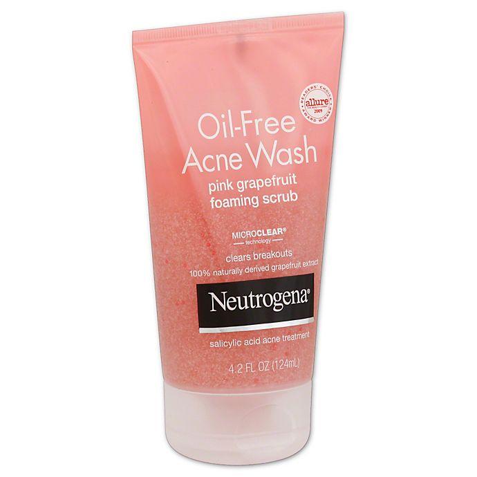 Neutrogena 4 2 Oz Oil Free Acne Wash Foaming Scrub In Pink