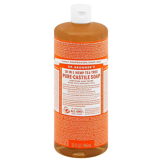 Alternate image 1 for Dr Bronner's 32 oz. 18-in-1 Pure-Castile Liquid Soap in Tea Tree