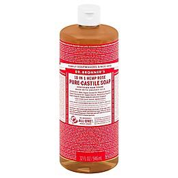 Dr Bronner's 32 oz. 18-in-1 Pure-Castile Liquid Soap in Rose