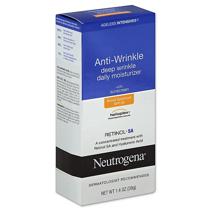 Alternate image 1 for Neutrogena® Ageless Intensives® 1.4 oz. Anti-Wrinkle Deep Wrinkle Daily Moisturizer SPF 20