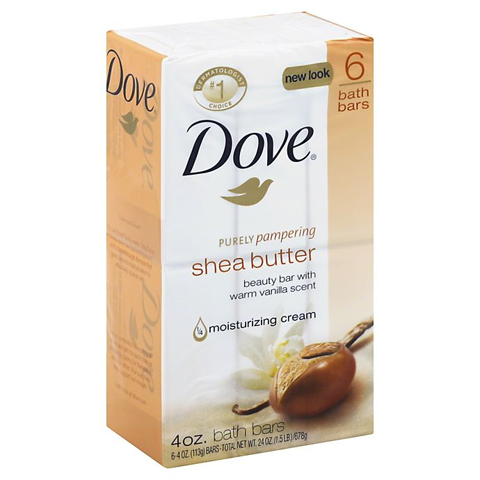 Dove 6-Count 4 oz. Purely Pampering Shea Butter Beauty Bar ...