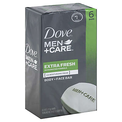 Dove 6-Count 4 oz. Men+Care Extra Fresh Body and Face Bar Soap