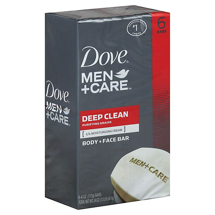 Alternate image 1 for Dove's 6-Count 4 oz. Men+Care Deep Clean Body and Face Bar