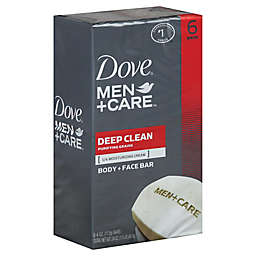 Dove® 6-Count 4 oz. Men+Care Deep Clean Body and Face Bar