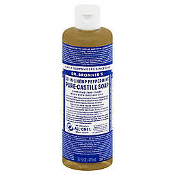 Dr Bronner's 16 oz. 18-in-1 Pure-Castile Liquid Soap in Peppermint