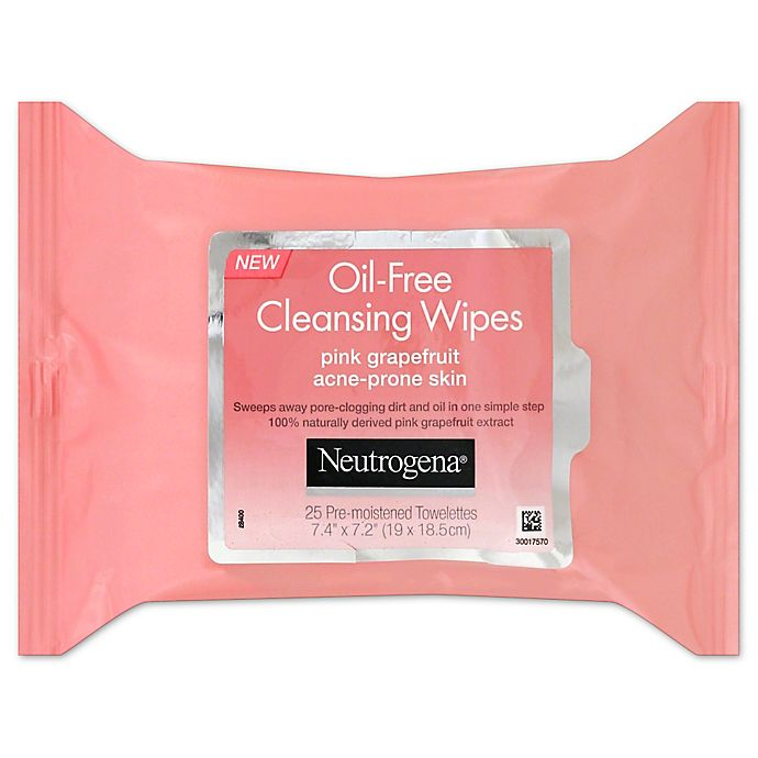 Alternate image 1 for Neutrogena® 25-Count Oil-Free Cleansing Wipes in Pink Grapefruit