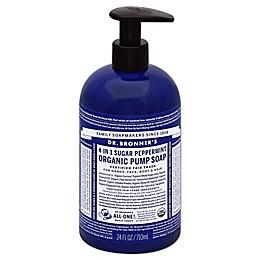 Dr. Bronners 12 oz. 4-in-1 Sugar Peppermint Organic Pump Soap
