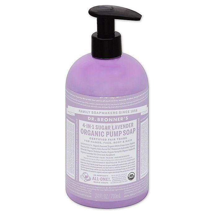 Alternate image 1 for Dr. Bronners 24 oz. 4-in-1 Sugar Lavender Organic Pump Soap