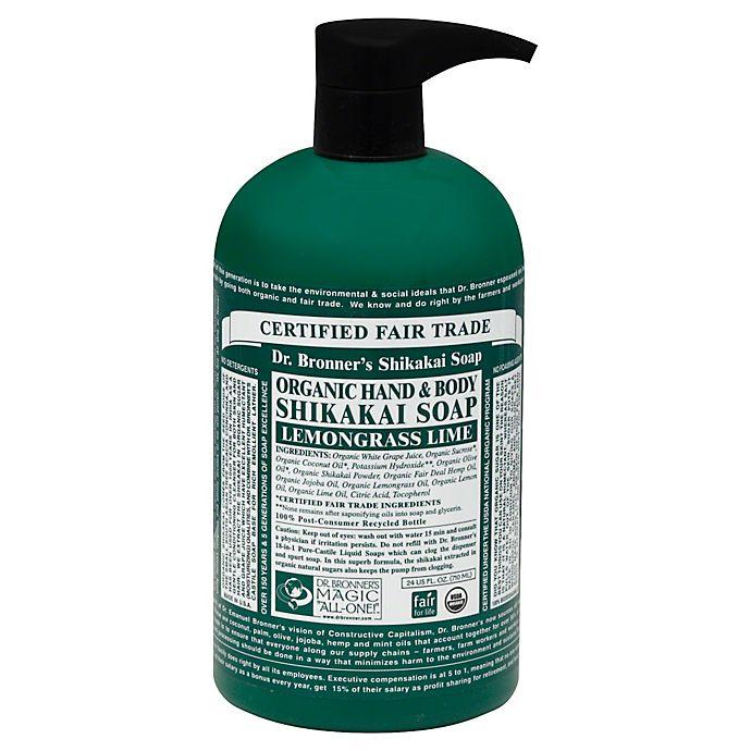 Alternate image 1 for Dr. Bronner's 24 oz. 4-in-1 Organic Pump Soap in Sugar Lemongrass Lime