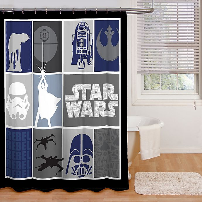 Star WarsTM Microfiber Shower Curtain