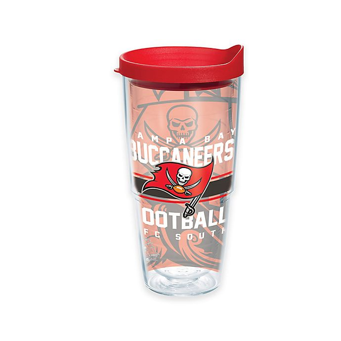 Alternate image 1 for Tervis® NFL Tampa Bay Buccaneers Gridiron 24 oz. Wrap Tumbler with Lid