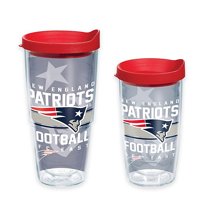 Alternate image 1 for Tervis® NFL New England Patriots Gridiron Wrap Tumbler with Lid