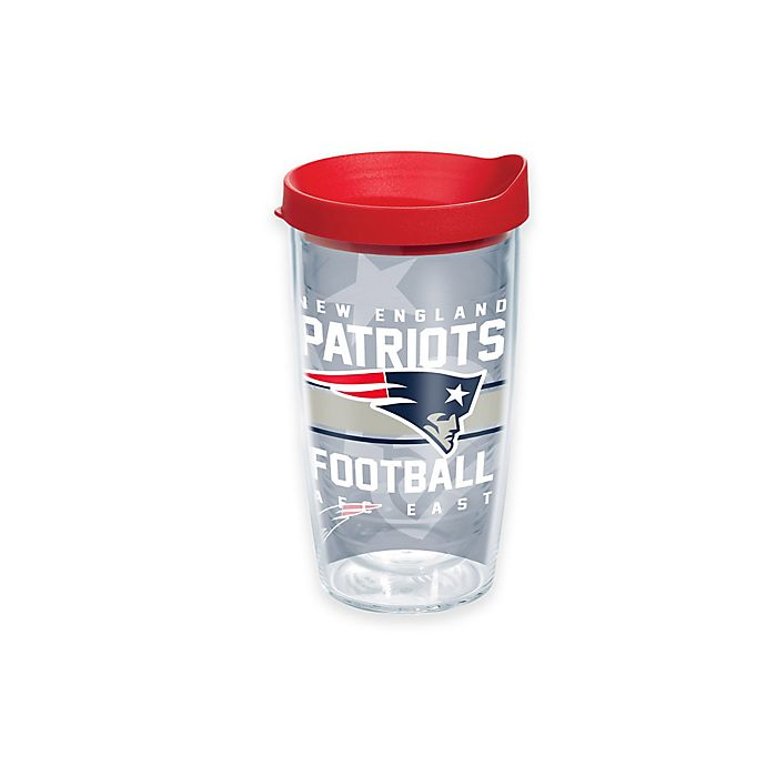 Alternate image 1 for Tervis® NFL New England Patriots Gridiron 16 oz. Wrap Tumbler with Lid