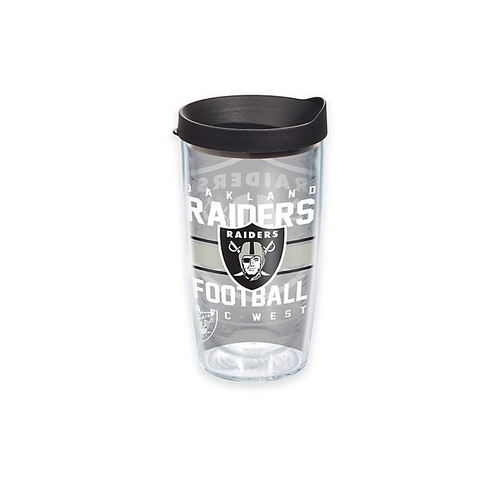 Alternate image 1 for Tervis® NFL Oakland Raiders Gridiron 16 oz. Wrap Tumbler with Lid