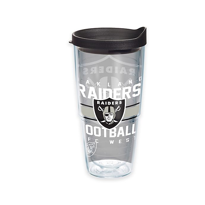 Alternate image 1 for Tervis® NFL Oakland Raiders Gridiron 24 oz. Wrap Tumbler with Lid