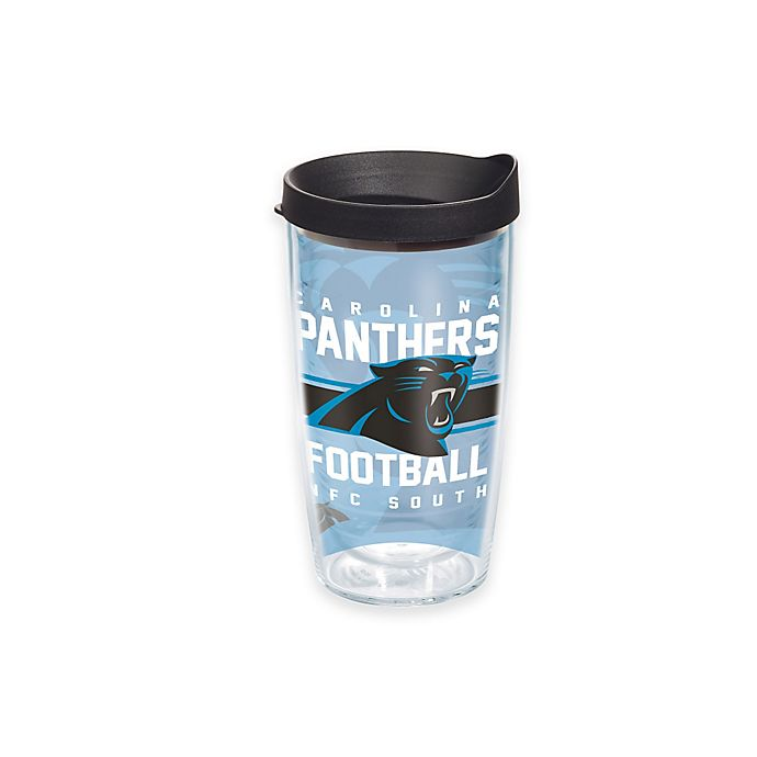 Alternate image 1 for Tervis® NFL Carolina Panthers Gridiron 16 oz. Wrap Tumbler with Lid