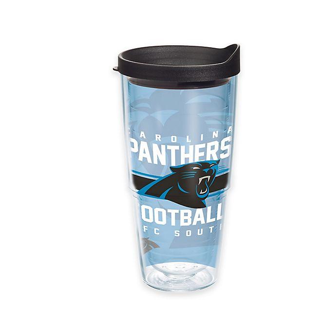 Alternate image 1 for Tervis® NFL Carolina Panthers Gridiron 24 oz. Wrap Tumbler with Lid