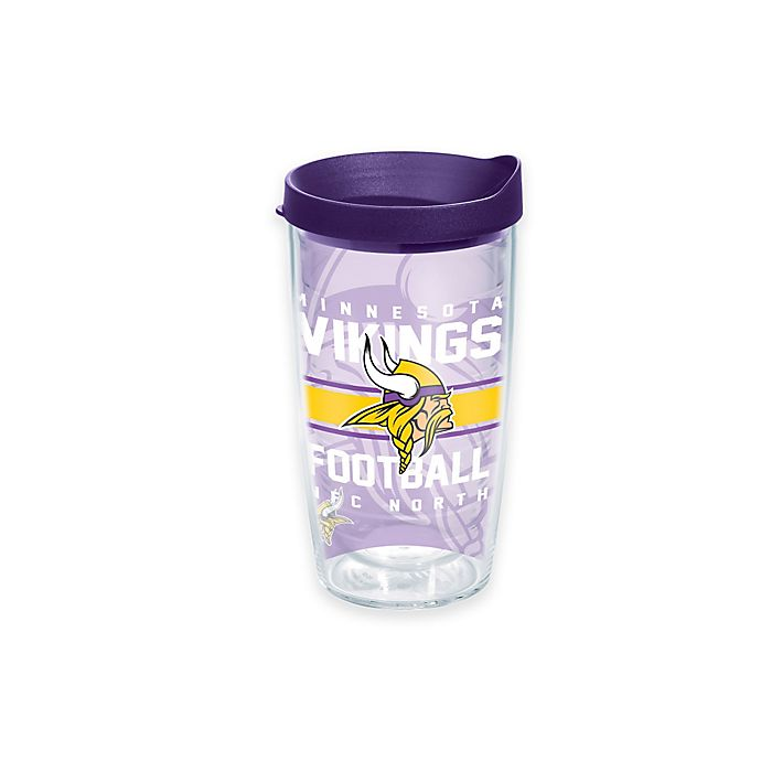 Alternate image 1 for Tervis® NFL Minnesota Vikings Gridiron 16 oz. Wrap Tumbler with Lid