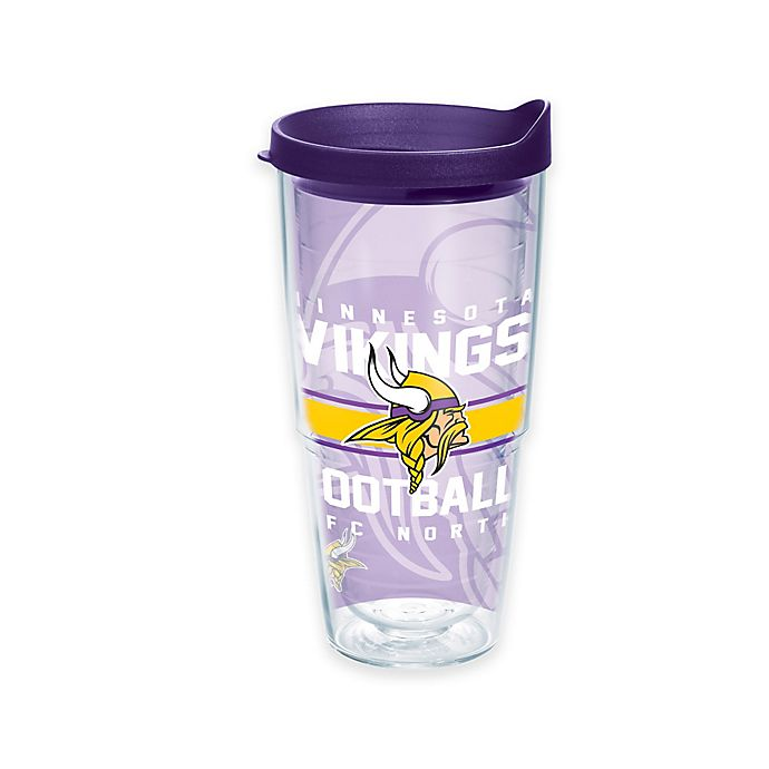 Alternate image 1 for Tervis® NFL Minnesota Vikings Gridiron 24 oz. Wrap Tumbler with Lid
