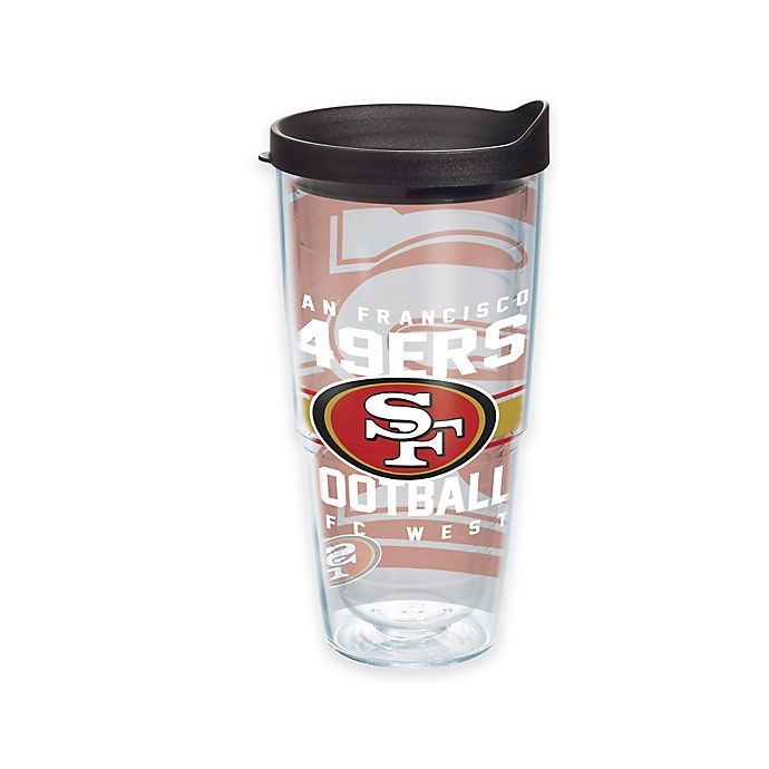 Alternate image 1 for Tervis® NFL San Francisco 49ers Gridiron 24 oz. Wrap Tumbler with Lid