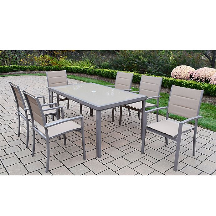 Oakland Living™ Padded Sling 7-Piece Outdoor Dining Set In